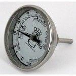 "Bi-Metal 3"" Dial Weldless Thermometer – Short Stem"